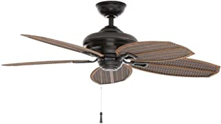 Hampton Bay Palm Beach Ii 48 In. Outdoor Natural Iron Ceiling Fan 191410 by King of Fans