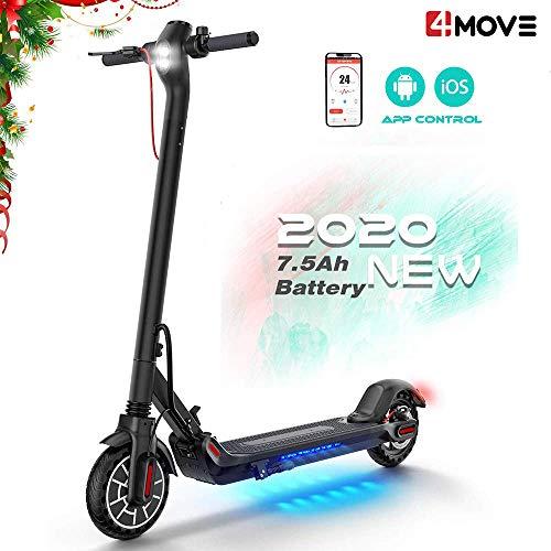 4MOVE Elektro Scooter 350W Akku 7,5 Ah, 8.5 Zoll Fahrzeug E-Scooter mit App Funktion, Faltbar Cityroller Erwachsene, DREI Geschwindigkeitsmodi Electric Scooter