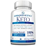 Approved Science® Keto: Pure Exogenous 4 Ketone Salts (Calcium, Sodium, Magnesium and Potassium) and MCT Oil to Boost Ketosis. 1 Bottle