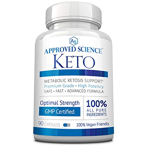 Approved Science Keto: Pure Exogenous 4 Ketone Salts (Calcium, Sodium, Magnesium and Potassium) and MCT Oil to Boost Ketosis. 1 Bottle
