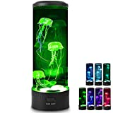 Cosney Jellyfish Lava Lamp, 7 Color Changing Light Effects 19 LED Mood Light for Bedroom, Drawing Room, Office, Jelly Fish Aquarium Tank Lamps Gift for Kids Adults
