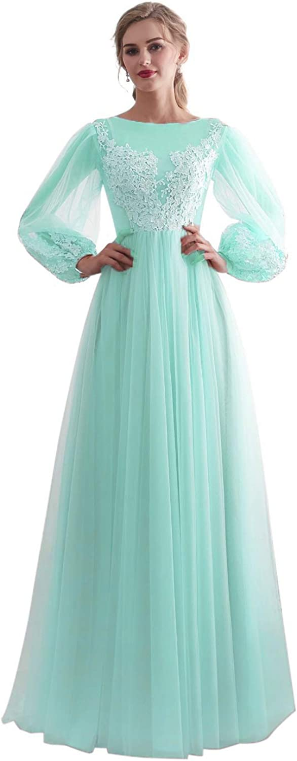 Darcy74Dulles Women's Nude Prom Dress Long Sleeve Formal Evening Gowns for Women Dresses
