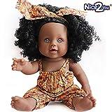 Nice2you Poupée Afro-américaine réalistes 12 Pouces bébé poupées pour Enfants...