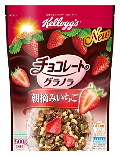 スマートマットライト ケロッグ チョコレートのグラノラ 朝摘みいちご 500g ×6袋