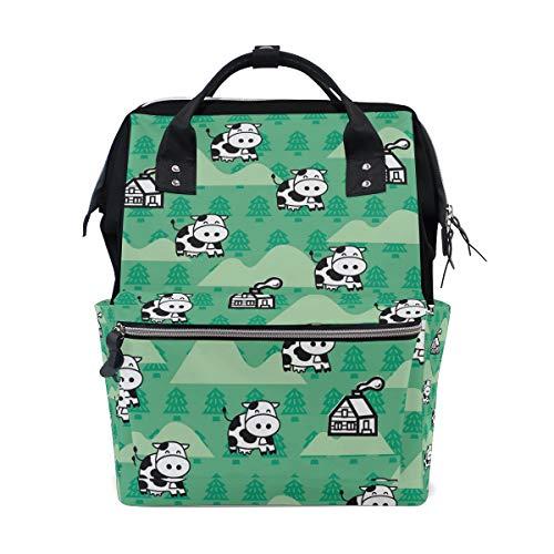 Multifunktionsrucksack Rucksack Perfect Cutt Tier Cartoon Lächeln Kuh Reisen Kindertagesstätte für Frauen Mädchen