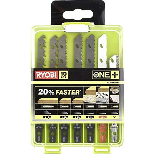 Preisvergleich Produktbild Ryobi 5132002811 Stichsägenblatt 10 RAK10JSBWM,  Sägeblatt-Set für Holz,  Kunststoff und Metall,  Stichsägen des ONE + System,  Universalaufnahme,  inkl. Ausschnittklingen,  6-teilig