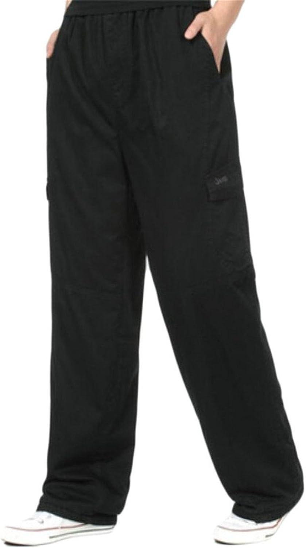 9ba076d8a0 LD Mens Fleece Lined Plus Plus Plus Size Cargo Long Pants with Pockets  597256