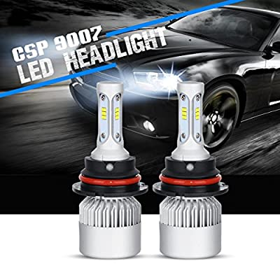 LED Headlights, POWLAB 2Pcs H4/9003/HB2 LED Headlight Bulbs, Fog Light, All-in-One Headlamps Conversion Kit, PHILIPS LED Hi-Lo Beam 72W 7200LM Cool White 6500K, Series F-S3, 2 Yr Warranty
