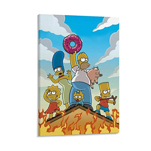 DRAGON VINES Simpsons Bread Donut Adventure Cartoon Character Prints for Wall Decor Nature Poster Celebrity Art 30 x 45 cm