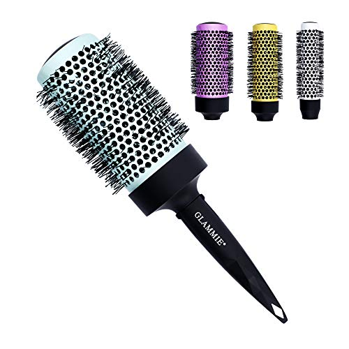 GLAMMIE Round Brush for Women and Men 4 In 1 Hair Brush Set with Detachable Barrels Professional Salon Styling Brush for Wet or Dry Hair