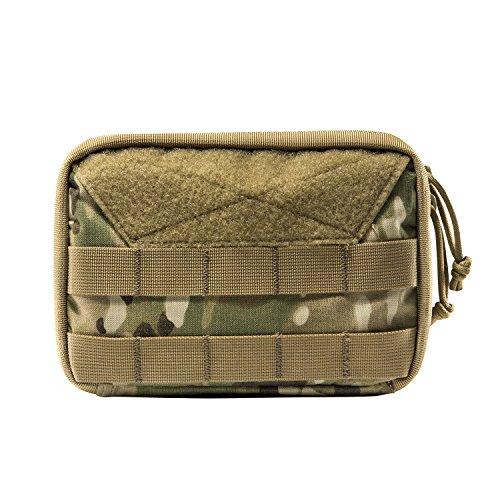 OneTigris Molle EDC Borsa in Cordura Nylon militare, Borsa tattica per accessori, per gadget, attività outdoor, sport, escursioni, Camo-Advanced Version