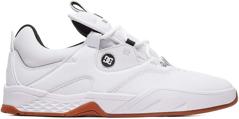 DC Mens Kalis S White Black Gum shoes Size
