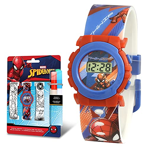 SKYLINE | Reloj Digital para Niños | Reloj de Pulsera Infantil Ajustable | 2 Correas para...