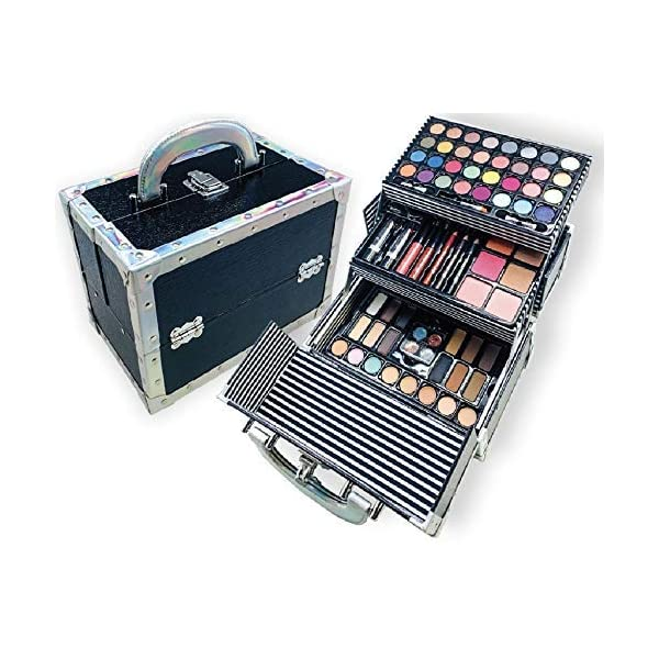 BR Carry All Trunk Train Case with Makeup and Reusable Case Makeup Gift Set