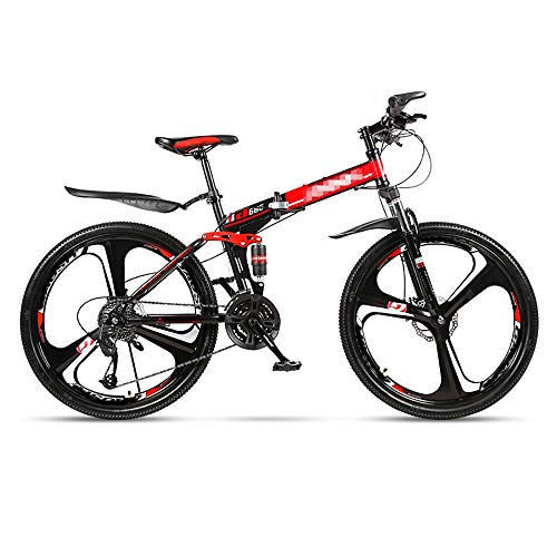 Mountain Bikes Folding Mountain Bicycle 21/24/27/30 Speed Adult Bicycle 24/26 Inch Adult Male and Female Dual Disc Brake High Carbon Steel Frame Multi-Speed Urban Rail Bike