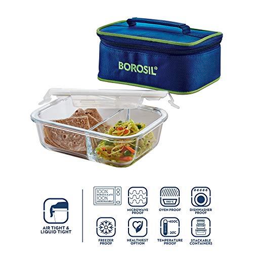 Borosil Glass Lunch Box, Transparent