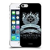 Head Case Designs Officiel Supernatural Saving People Logo Vecteurs Coque Dure pour l'arrière Compatible avec iPhone 5 iPhone 5s iPhone Se