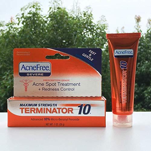 Uniqus Hot!! AcneFree - Pegamento para acné fuerte (28 g, 10% peróxido de benzoilo, elimina el acné, crema oscura)