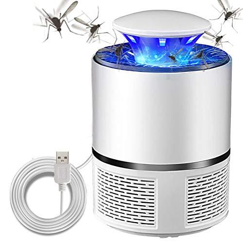 TYUE Lampe Anti-Moustique LED à Piles alimentée par USB,silencieuse électronique pour Tuer Zapper,inhalateur Anti-Moustique sans Produits Chimiques,lumière UV à photocatalyseur pour intérieure,White