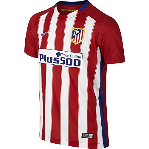 Nike 1ª Equipación Atlético de Madrid 2015/2016 - Camiseta Oficial niño, Color Rojo/Blanco/Azul, Talla XS