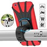 PEYOU Support Téléphone Vélo,Support téléphone Moto de Guidon Rotatif Réglable en Silicone à 360°avec Système A-Vibrations pour 4-6.5'' Smartphones,Moto Poussette et Golf Trolley Paniers