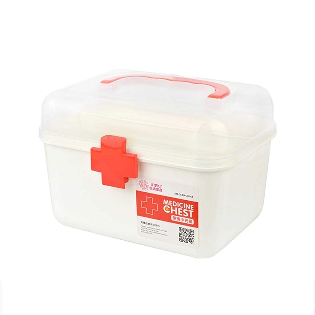 Wangjie 救急箱 応急処置 薬箱 救急ボックス 薬 くすり 収納 収納ボックス 大容量 収納箱 救急 応急手当 薬入れ 小物入れ 多機能 家庭用