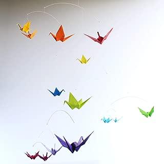Rainbow Baby Mobile, Nursery Mobile Decor, Origami Paper Crane Nursery Art, Unique Baby Mobile, Rainbow Crib Mobile, Colorful Cot Mobile, Unique Baby Gift, Colorful Nursery Art, Rainbow Baby Gift