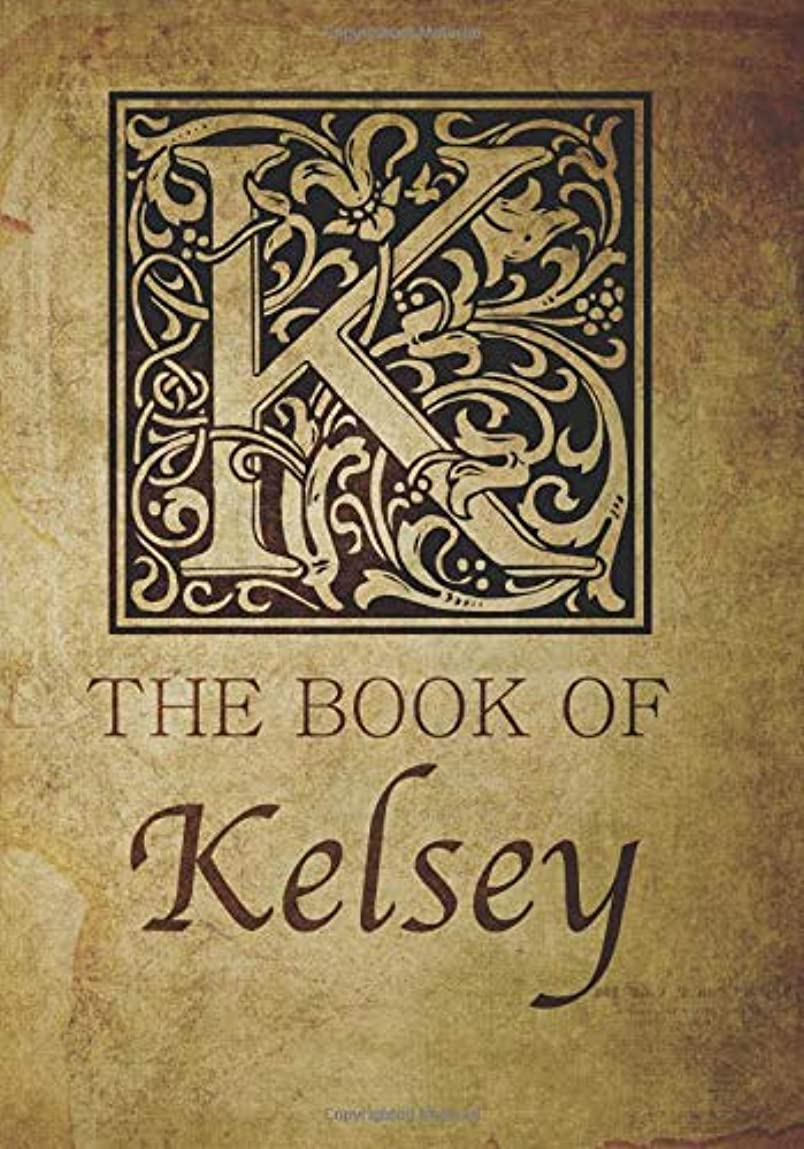 壊すゲートウェイバスルームThe Book of Kelsey: Personalized name monogramed letter K journal notebook in antique distressed style. Great gift for writers, creative literary & lovers of arts and crafts style calligraphy.