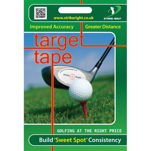 Impact Tape Improved Accuracy and Distance - Entrenador de Swing para Golf, Color Blanco