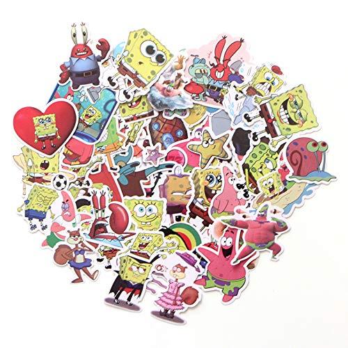 SHUHU Spongebob Cartoon Sticker Valigia Skateboard Frigorifero Laptop Graffiti Cartoon Sticker Gioielli 51