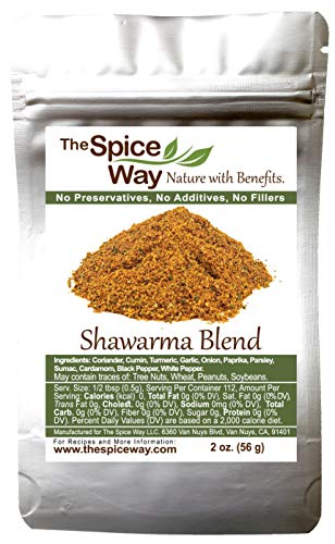 The Spice Way - Shawarma Blend Recipe Inside (meat and poultry rub/meat and poultry spice)- 2 oz