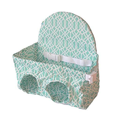 Huhu833 Kleinkind Einkaufswagen Sitz, Baby tragbare Supermarkt Warenkorb Warenkorb Warenkorb Baby Seat (Hell blau)