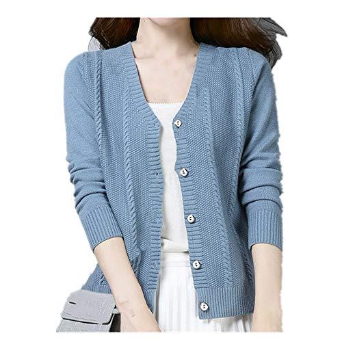 U/A corto cuello en V chaqueta de punto chaqueta de mujer