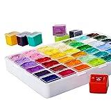 Set de Pinturas Gouache 24 colores * 30 ml Artist Acrylic Paint Pinturas de Tela Impermeables con Estuche para Niños Artista