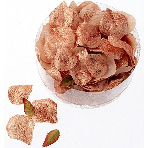 Floristrywarehouse Rose Petals Metallic Rose Gold Artificial Silk x 164