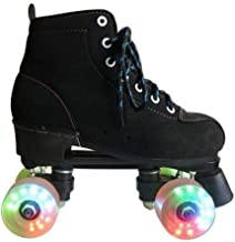 XUDREZ Roller Skates, High-top Roller Skates Four Wheels Double Row Roller Skates Adult and Youth, Indoor and Outdoor
