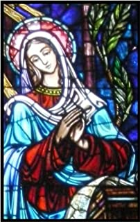mary stained glass window