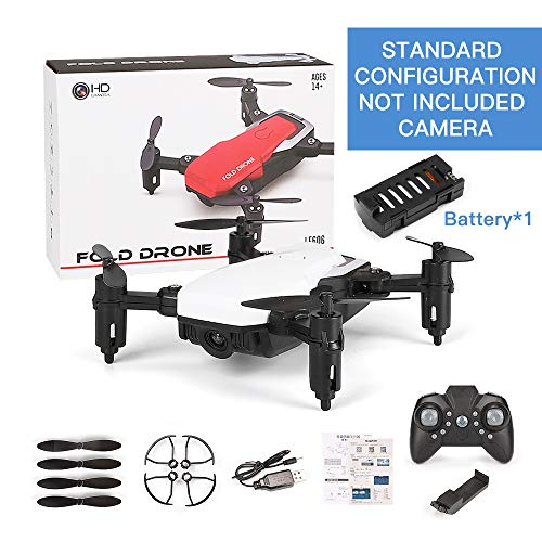 OUYAWEI SG800 Mini Drone con Cámara Altitude Hold RC Drones con Cámara HD WiFi FPV Quadcopter Dron RC Helicóptero VS Z1, JDRC JD-16, HDRC D2, SM M1 Standard Without Camera White Multirrotores