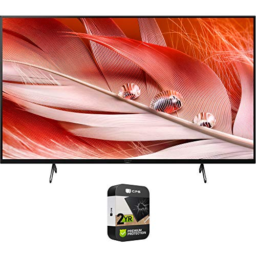 Sony XR65X90J 65-inch X90J 4K Ultra HD Full Array LED Smart TV (2021 Model) Bundle with Premium 2 Year Extended Protection Plan