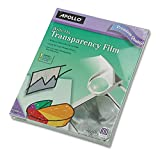 Apollo WO100CB Write-On Transparency Film, Letter Size, Clear, 100/Box