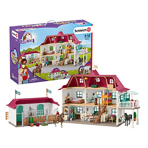 Schleich Horse Club Lakeside Country House and Stable 70-piece Educational Playset for Kids Ages 5-12