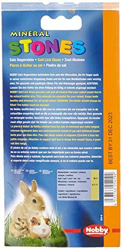 Nobby Salzleckstein für Kaninchen mit Halterung, 1er Pack (1 x 92 g) - 3