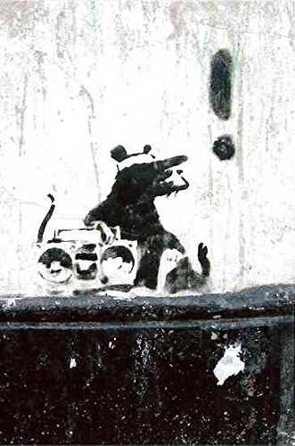 Banksy 2-gangstar rat exclamation, formato A3, motivo: Graffiti, arte di strada '