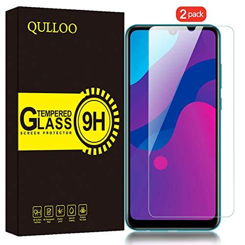 QULLOO Panzerglas für Huawei Y6p / Honor 9A, 9H Hartglas Schutzfolie HD Displayschutzfolie Anti-Kratzen Panzerglasfolie Handy Glas Folie für Huawei Y6p / Honor 9A