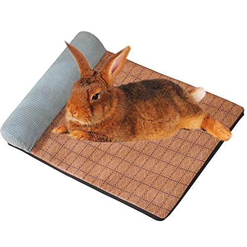 Oncpcare Verano fresco pequeño animal conejillo de indias hámster cama casa ardilla erizo conejo chinchilla cama Mat casa nido conejo accesorios
