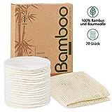 SPACES Waschbare Abschminkpads| 20 Stück Wiederverwendbare Wattepads aus Bambus und Baumwolle |...