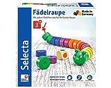 Selecta 63005 Fädelraupe, Würfel- und Fädelspiel mehrfarbig