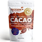 Cacao Powder, Organic Raw. Best Dark Chocolate Taste. Pure Natural Unsweetened Cocoa. 1 Pound