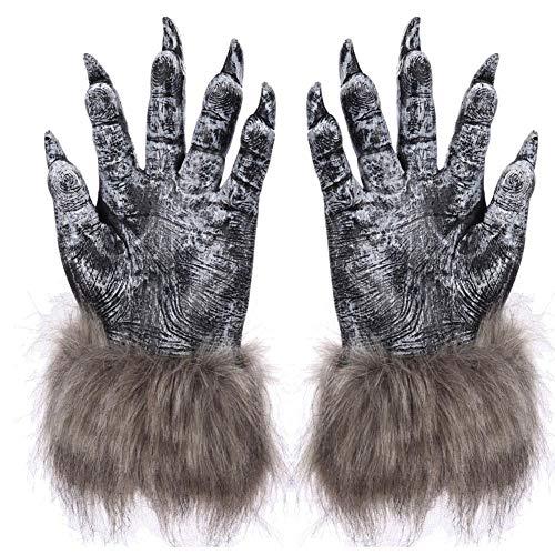 Werwolf Handschuhe, 1 Paar Halloween Wolf Handschuhe, Halloween Deko Horror Wolf Kostüm Cosplay Zubehör Für Kinder Und Erwachsene