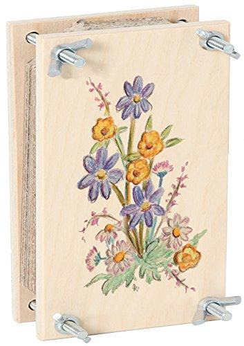 Bartl 111370 Blumenpresse aus Holz 15 cm x 10 cm bunt Top Qualität. Made in Germany.